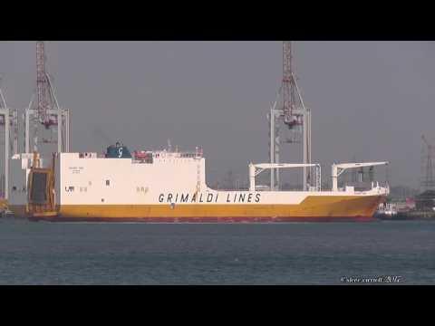 Grande Togo RoRo/Cargo Carrier departs Southampton 30/4/17