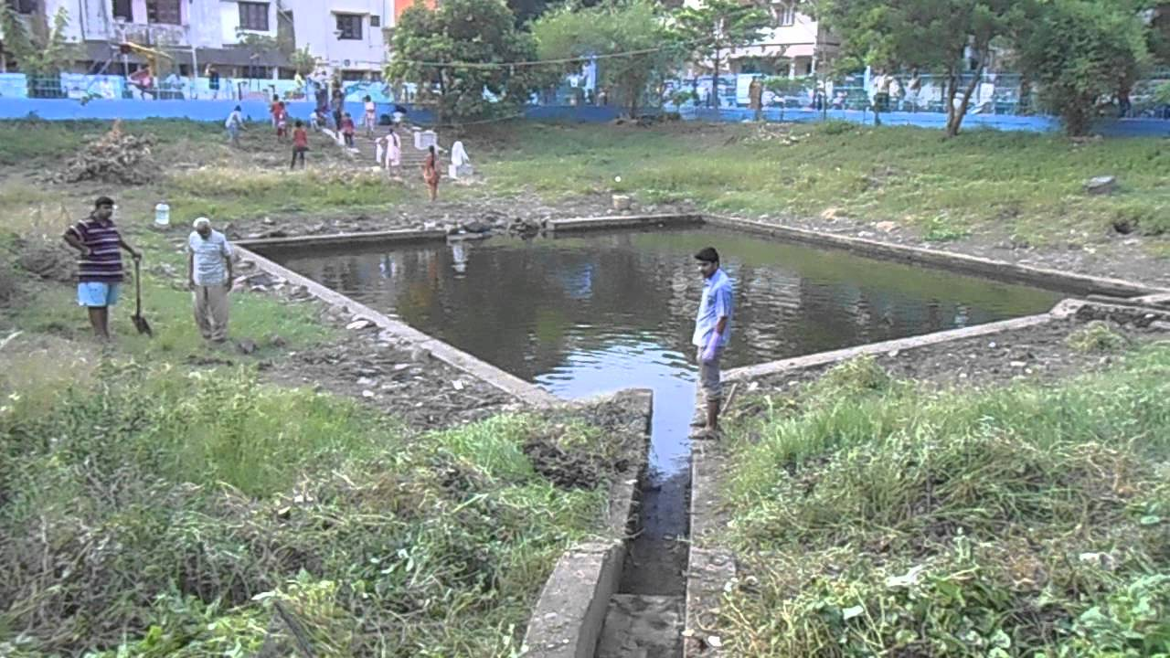 Rainwater Harvesting Pond Cleaning Work Youtube