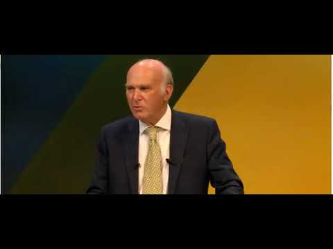 Vince Cable BLUNDERS his 'erotic spasm' conference line