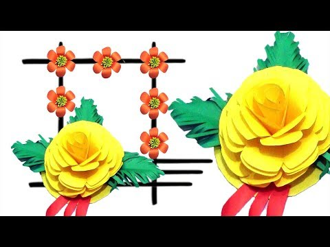 Diy Best wall decoration Ideas !! Wall decoration ideas with paper Flowers ! Sone Paper crafts