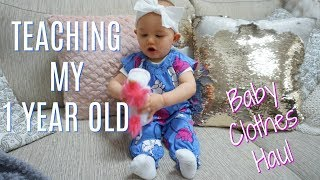 HOW I TEACH MY 1 YEAR OLD| Summer Baby Clothing Haul| Tres Chic Mama