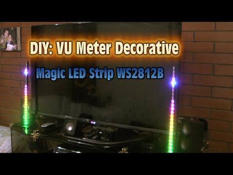 VU Meter Decorative with Magic LED Strip WS2812B - Do It Yourself