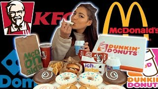 10,000+ CALORIE FAST FOOD CHALLENGE | GIRL VS FOOD