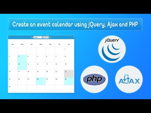 Create an event calendar using jQuery, Ajax and PHP