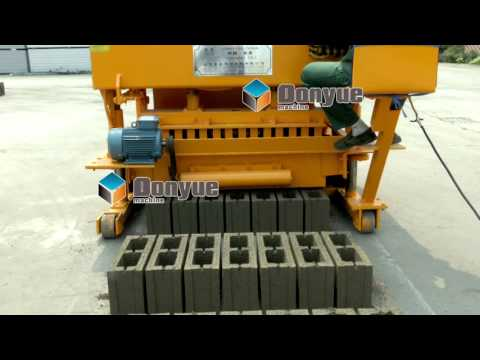 QTM6 25 egg layer mobile brick block making machine price for sale for small business