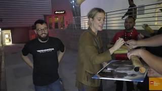 Mackenzie Davis greets fans outside the Terminator  Dark Fate Q&A at ArcLight Cinemas