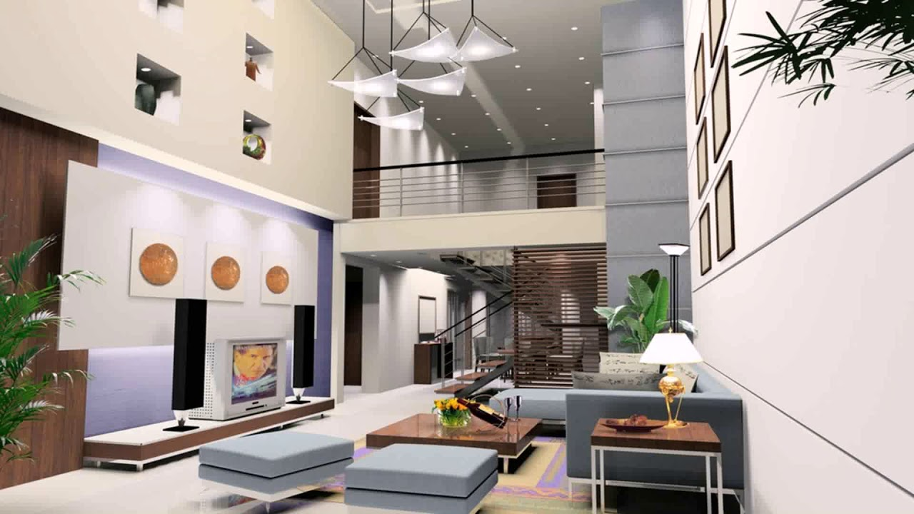 Duplex House Living Room Design Stairs - Gif Maker ...