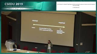"""""""From 'Minimal' to 'Maximal' Digital Experiences for Learning..."""" Dr. Maria Roussou (CSEDU 2019)"""