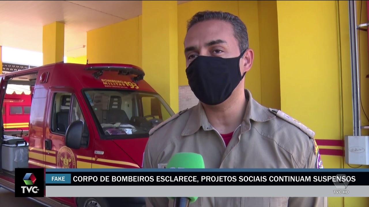 Corpo de Bombeiros esclarece que projetos sociais continuam suspensos em Três Lagoas