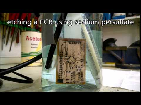 Etching a PCB using sodium persulfate