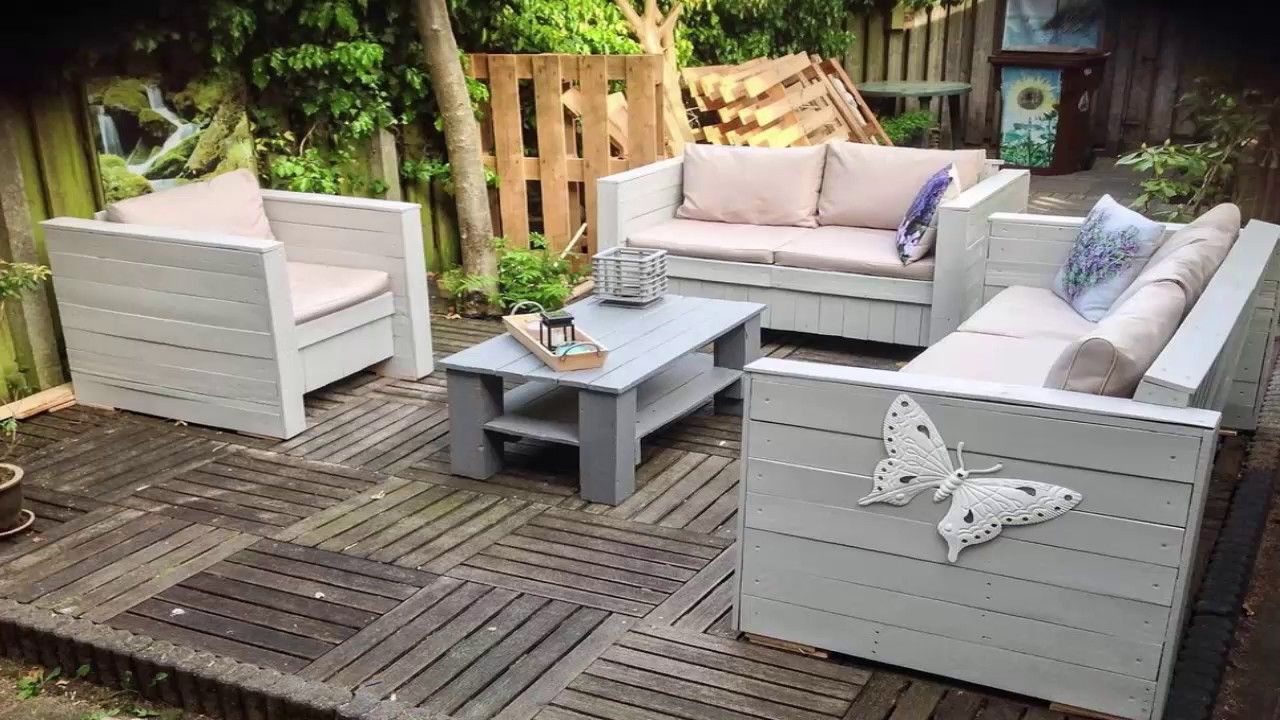 Outdoor Furniture Made From Wood Pallets Youtube