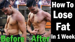 How to Lose Fat & Weight in 1 Week (Men and Women) | Belly Fat Workout & Exercise