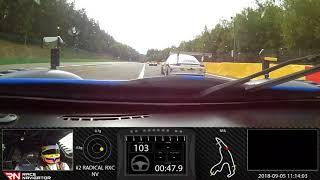 RN #1 Onboard video SPA, RADICAL RXC, 02:17.204