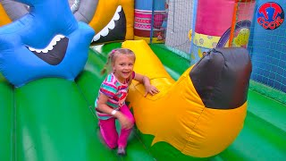 Outdoor Playground for kids Family Fun Play Area | Baby Nursery Rhymes Songs