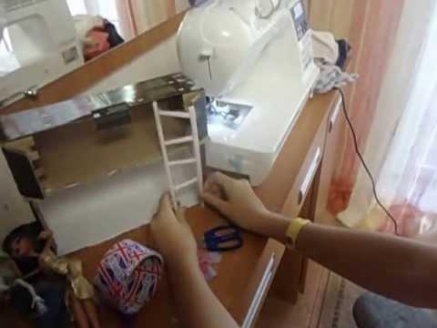 видео: Как сделать двухэтажную кровать для кукол (новый способ)