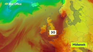 Heatwave to hit UK next week (Met office forecast)