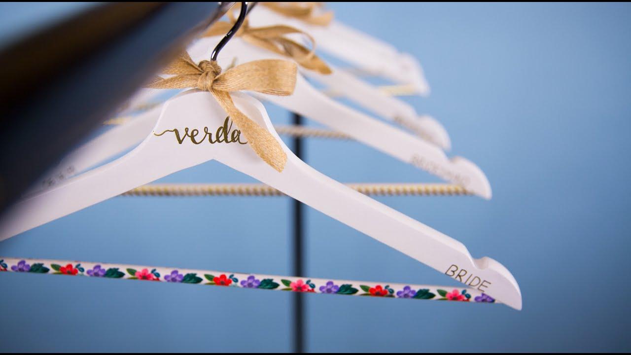 Diy Personalized Wedding Hangers