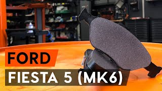How to replace Brake pad set FORD FIESTA V (JH_, JD_) Tutorial
