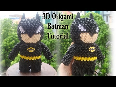 How to make 3D Origami Batman | DIY Paper Batman Toy