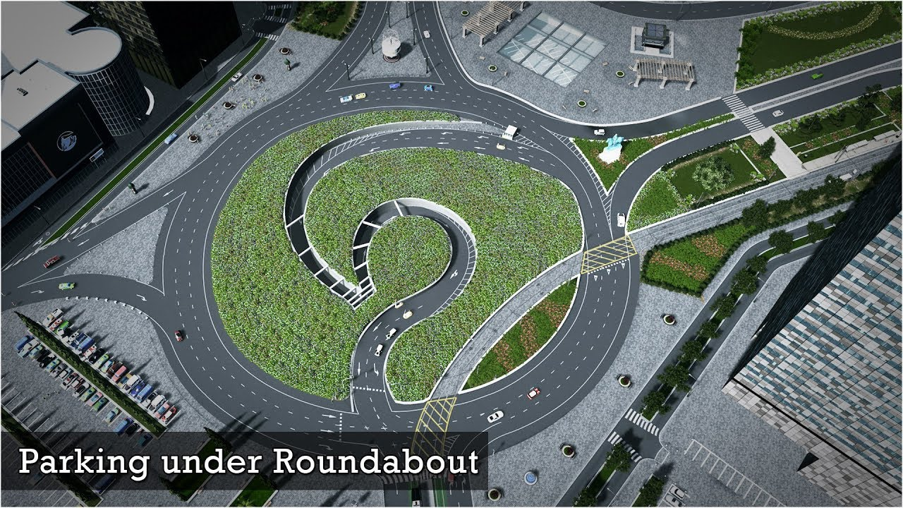 Cities Skylines Best Roundabout