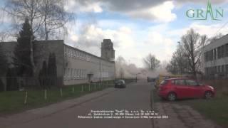 Wyburzenie metodą wybuchową komina h=65m w Szczecinie