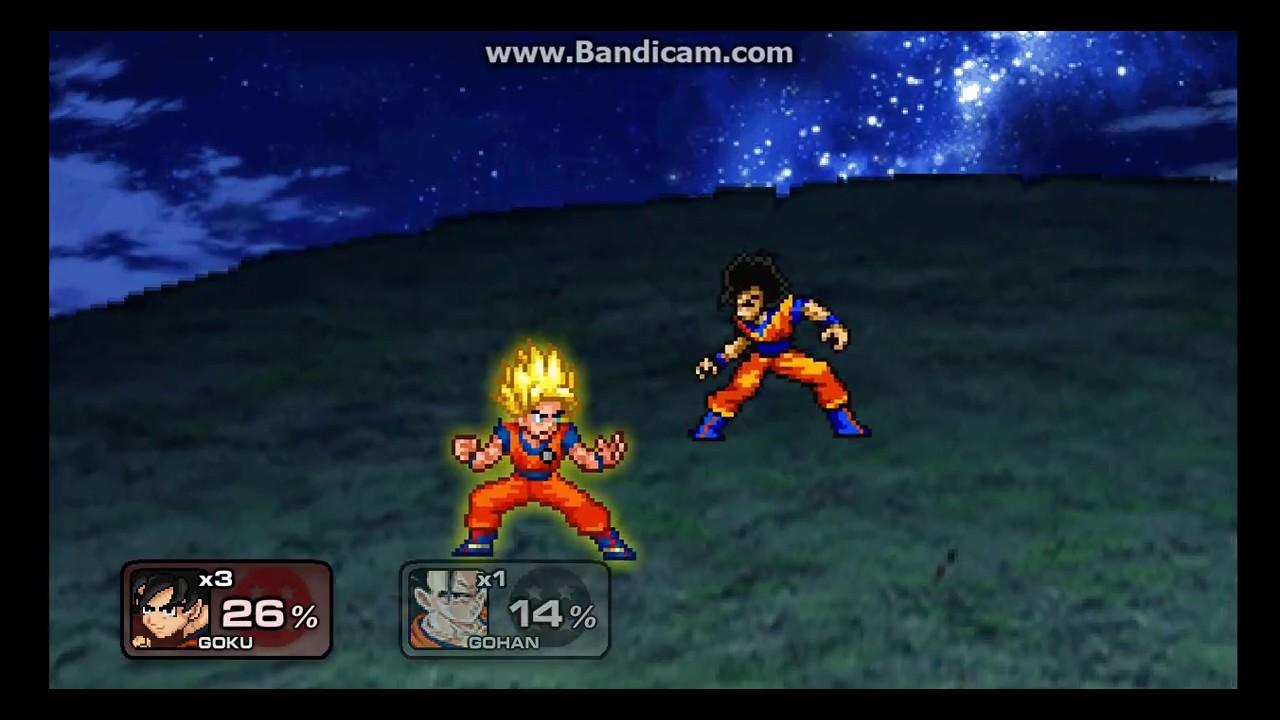 SSF2 mod OP Goku vs Gohan