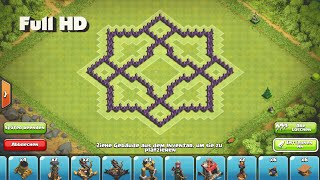 Clash of Clans - Epic TH7 Star Farming Base ➞Speed Build