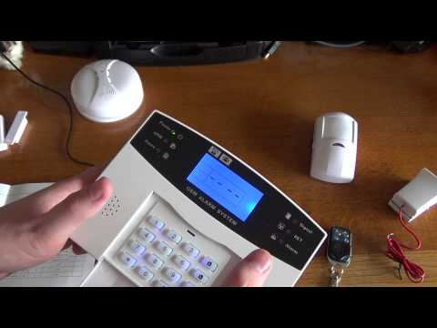 GSM Burglar Alarm Unboxing and Basic Setup