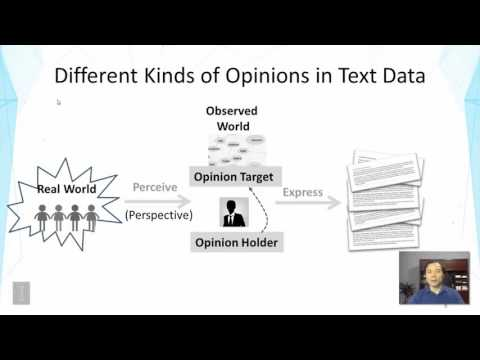 Lecture 43 — Opinion Mining And Sentiment Analysis  Motivation | UIUC