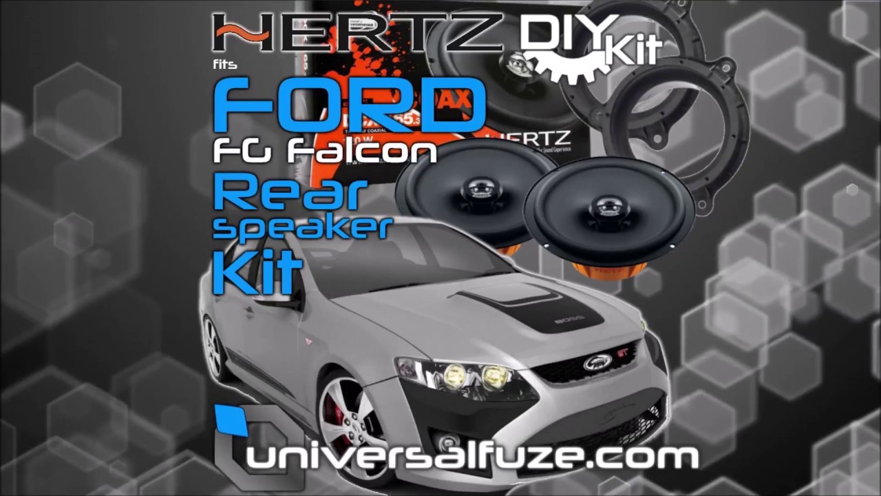 Ford FG Falcon rear speaker upgrade QUICK GUIDE