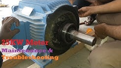 Motor Maintenance & Troubleshooting [ 25KW Motor ] | Motor Coil Winding Burned by Imbalance Rotor