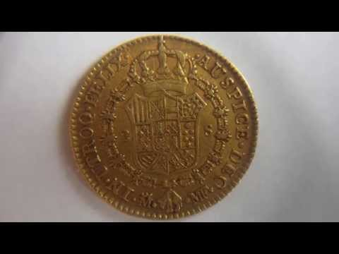 2 Escudos 1800 Charles IV Gold Coin