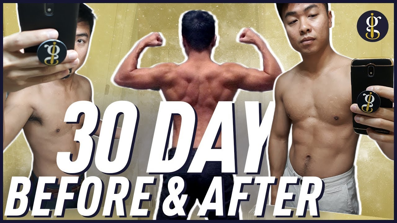 30 Day Fitness Challenge Results | Before & After 100 Pushups, 100 Pull  ups, 100 Sit ups, 100 Squats