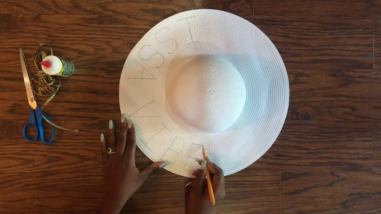 23f4a938244432 DIY EMBROIDERED STRAW HAT - YouTube