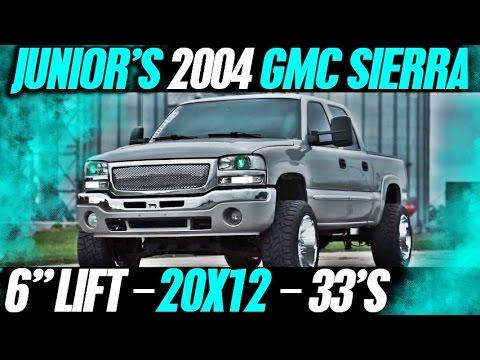 Spotlight - Junior's 2004 GMC Sierra on 6' of lift, 20x12's with 33's