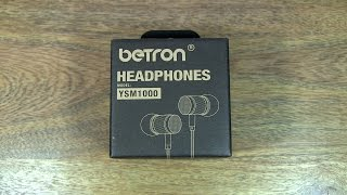 Unboxing of the Betron YSM1000 Noise Isolating Earphones