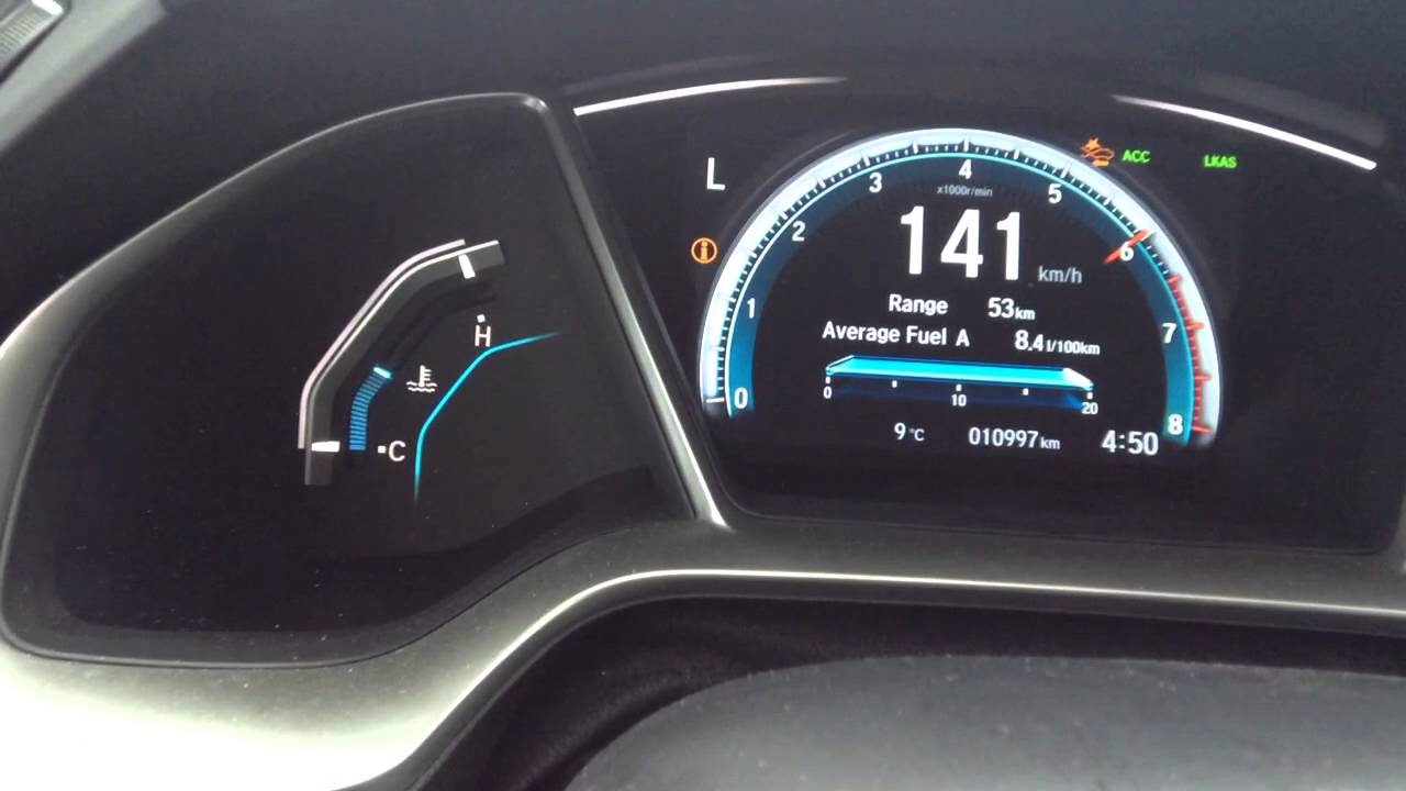 2016 Honda Civic EX-T Boost launch Low gear test, bone ...