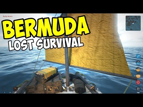 BUILDING A RAFT and SAILING AWAY!! - Bermuda Lost Survival Gameplay - Episode 2