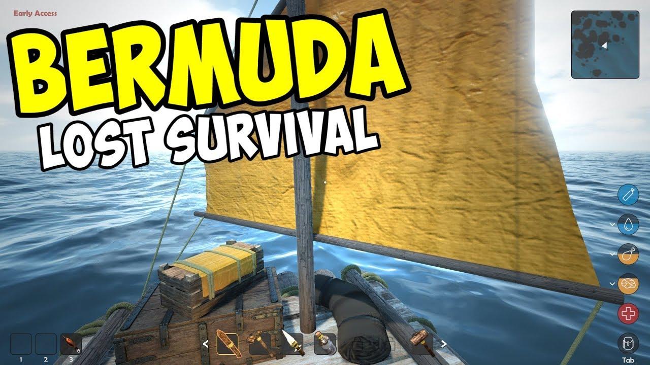 BUILDING A RAFT and SAILING AWAY  Bermuda Lost Survival