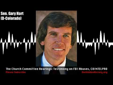 US Senate - Church Committee Hearings [1975]: COINTELPRO, FBI Abuses