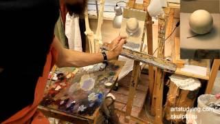 Еще шар. Обучение живописи. Масло. Введение, серия 3.1