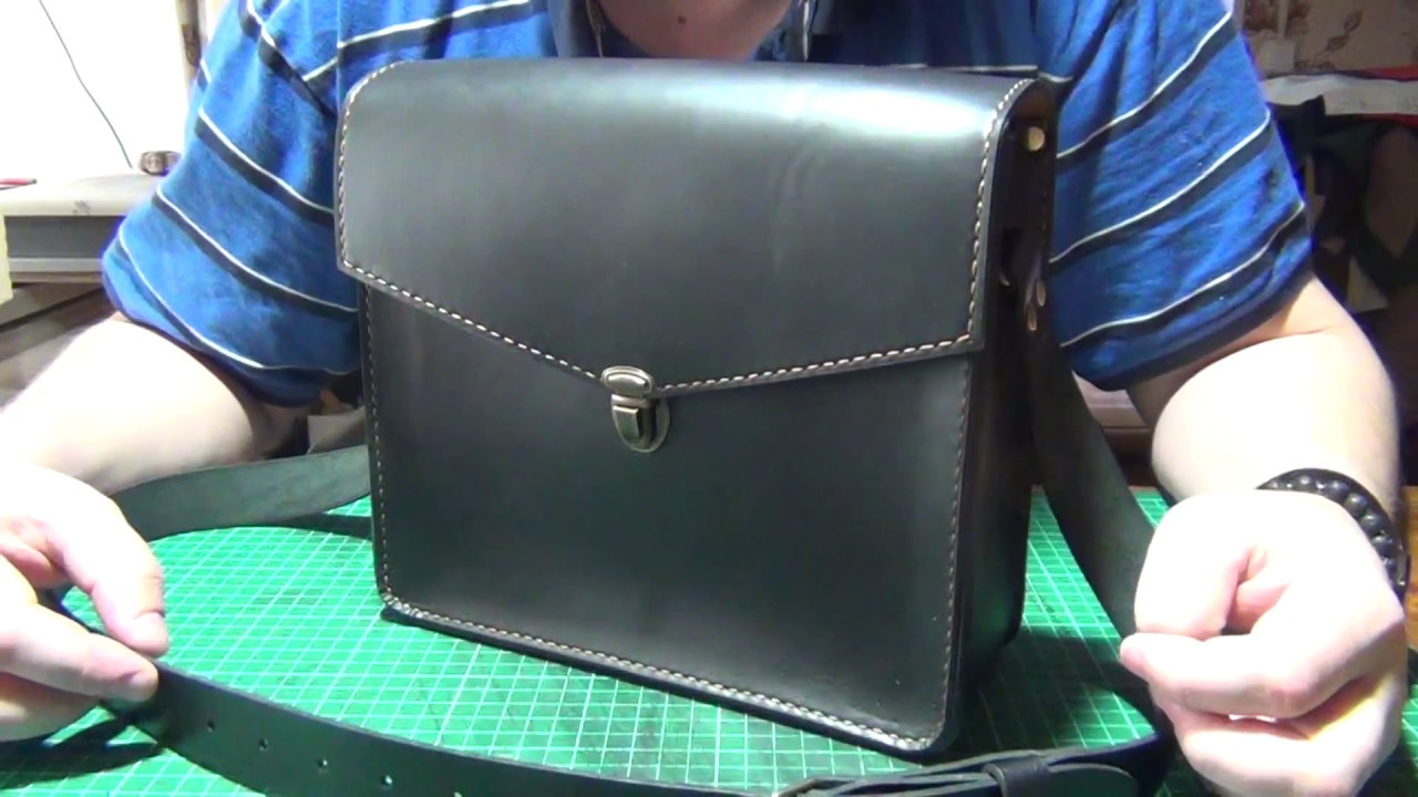 a8c5627f9739 Простая, мужская, кожаная сумка. - YouTube