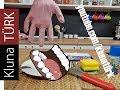 eldiven içinde kinetik kum pastası ve bulaşık süngeri yedimklunatürk asmr seslerasmr sesler1