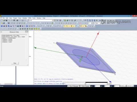 HFSS - Design of Circular Patch Antenna using Coaxial feeding/Probe Feeding