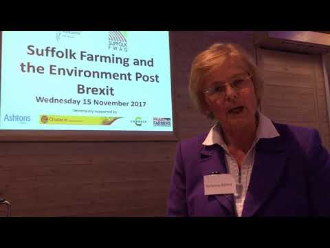 Baroness Hazel Byford discuss Suffolk Farming Post Brexit conference