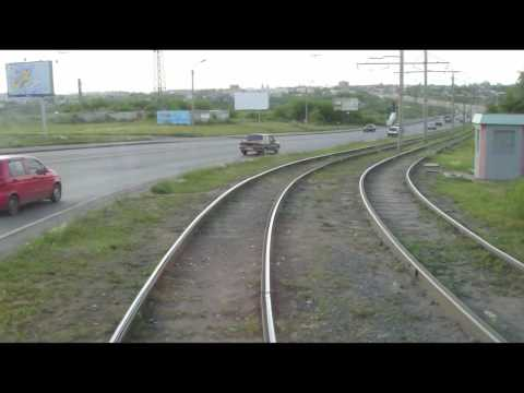 Travelling on tram 6 route 4 in Omsk Siberia Russia Pt 1
