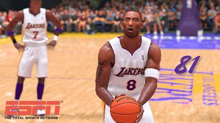 KOBE scores 81! | NBA 2K20 Retro Replay |  2006 Lakers vs. Raptors