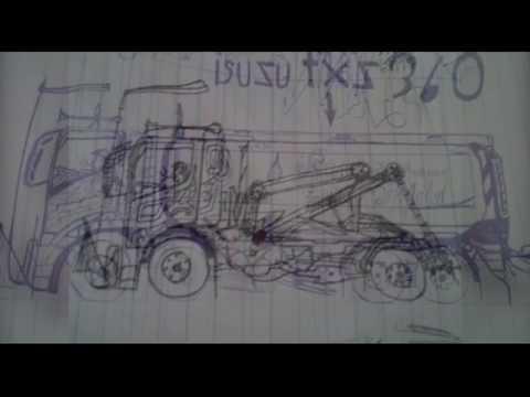 วาดรูป รถบรรทุก สวยๆๆ
