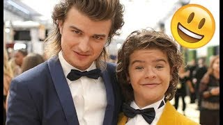 Stranger Things Cast 😊😊😊 - Finn, Millie, Noah and Gaten CUTE AND FUNNY MOMENTS 2018 #13