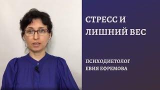 Уровень стресса и лишний вес  Как между ними связь Психодиетолог Евия Ефремова